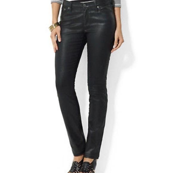 a8e91789 Lauren Ralph Lauren Coated Premier Skinny Jeans